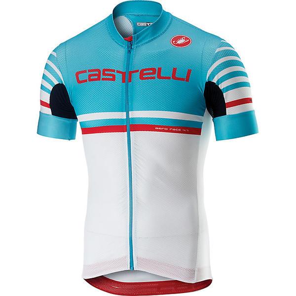 カステリ メンズ サイクリング スポーツ Castelli Men's Free AR 4.1 Full Zip Jersey Sky Blue/White