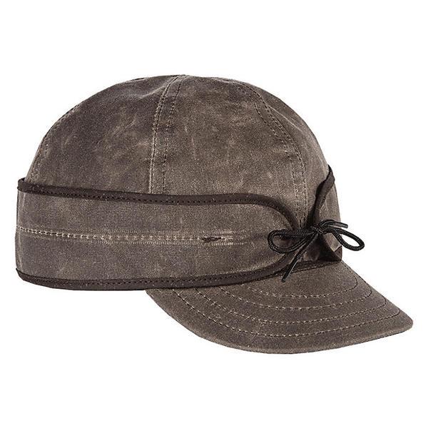 ストーミー クローマー レディース 帽子 アクセサリー Stormy Kromer Waxed Cotton Cap Dark Oak