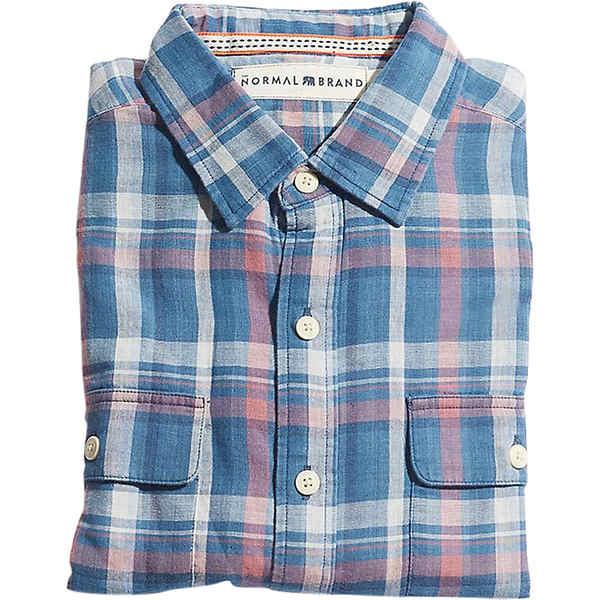 ノーマルブランド メンズ シャツ トップス The Normal Brand Men's Check Shirt Indigo
