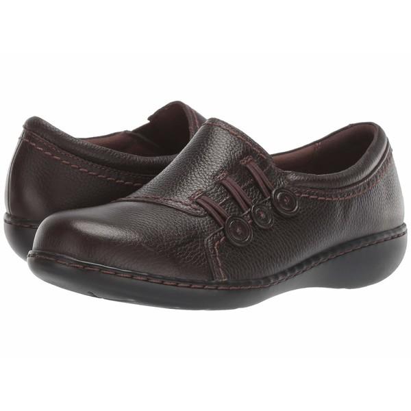 クラークス レディース スリッポン・ローファー シューズ Ashland Effie Dark Brown Tumbled Leather