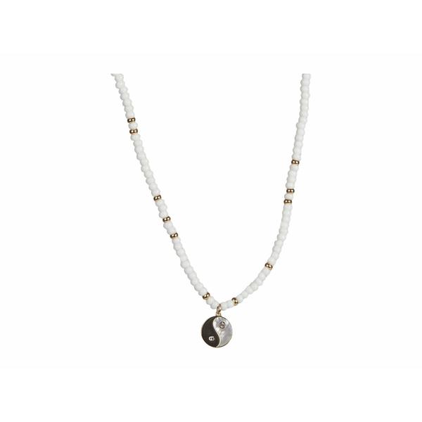 レベッカミンコフ レディース ネックレス・チョーカー・ペンダントトップ アクセサリー Beaded Yin-Yang Pendant Necklace Gold