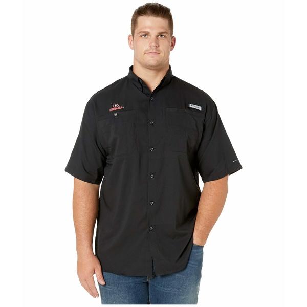 コロンビアカレッジ メンズ シャツ トップス Big & Tall Georgia Bulldogs Collegiate Tamiami II Short Sleeve Shirt Black