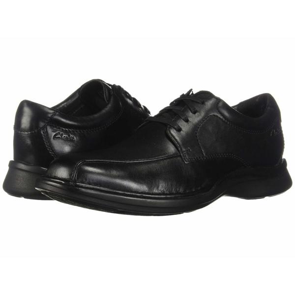 クラークス メンズ ドレスシューズ シューズ Kempton Run Black Leather