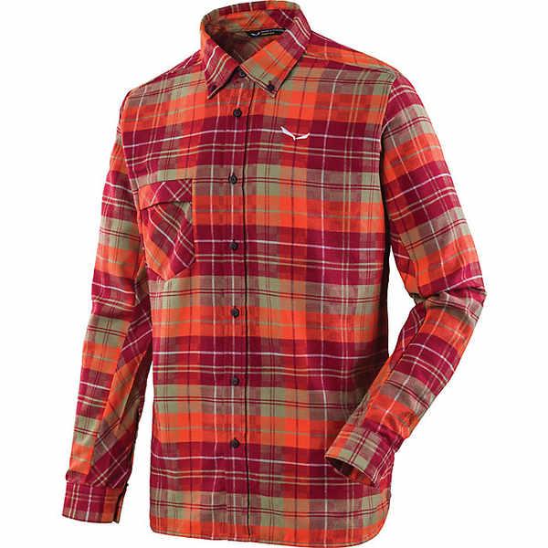 サレワ メンズ シャツ トップス Salewa Men's Fanes Flannel 3 PL LS Shirt Pump / Velvet / Oil