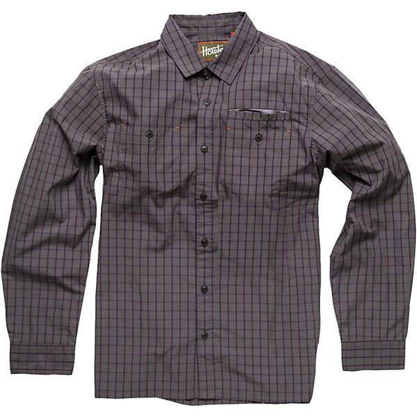 ハウラーブラザーズ メンズ シャツ トップス Howler Brothers Men's Aransas LS Shirt Shinebox Plaid Grey / Purple
