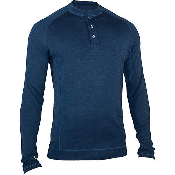 シャワーパス メンズ シャツ トップス Showers Pass Men's Merino LS Henley Navy Blue