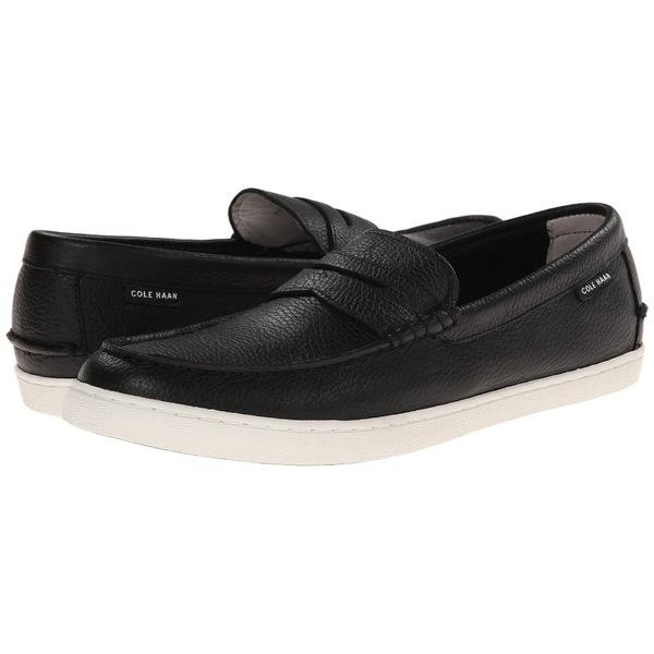 コールハーン メンズ スリッポン・ローファー シューズ Pinch Weekender Black Leather/White