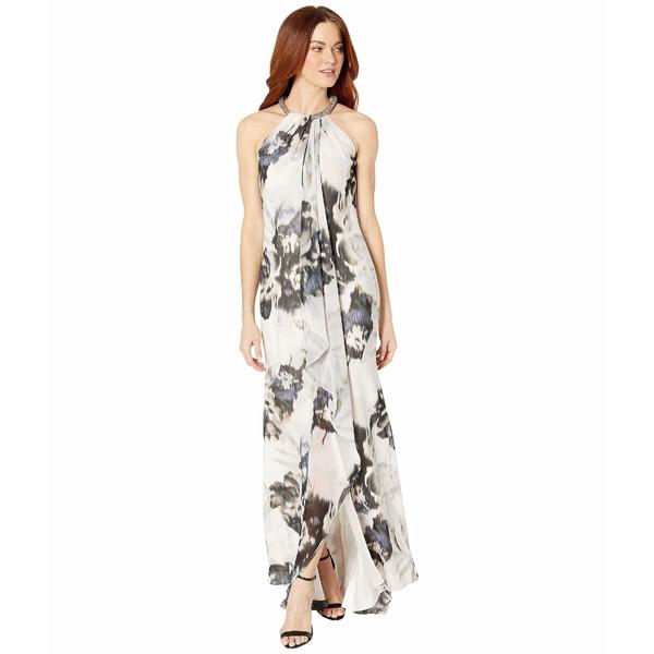 カルバンクライン レディース ワンピース トップス Floral Print Gown w/ Embellished Halter Neck Blossom Multi