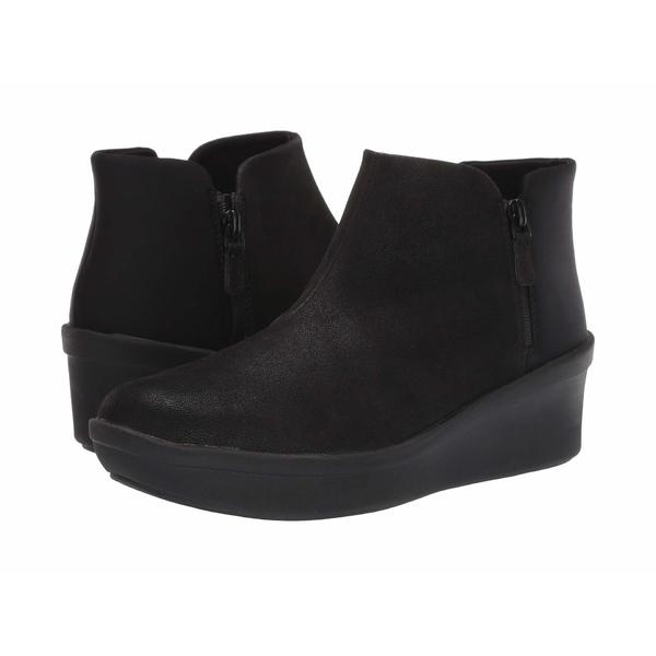 クラークス レディース ブーツ&レインブーツ シューズ Step Rose Up Black Textile