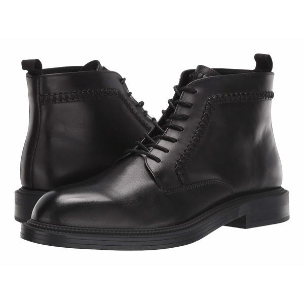 カルバンクライン メンズ ブーツ&レインブーツ シューズ Colebee Black Crust Leather