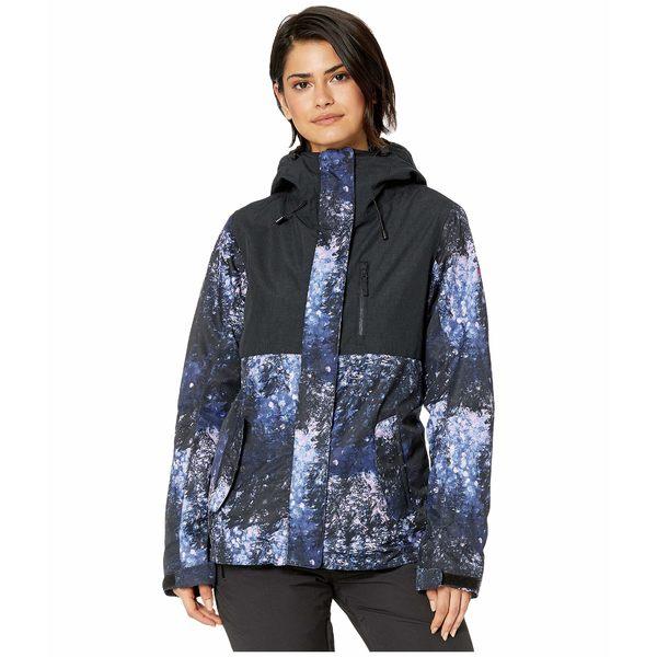 ロキシー レディース コート アウター Jetty 3-N-1 Snow Jacket Medieval Blue Sparkles