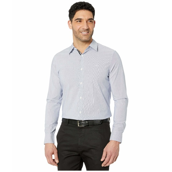 カルバンクライン メンズ シャツ トップス The Stretch Cotton Long Sleeve Woven Shirt Estate Blue