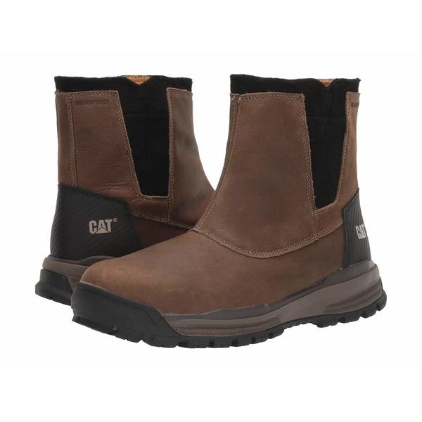 キャタピラー メンズ ブーツ&レインブーツ シューズ Hydrobond Ice+ Waterproof TX Cascade Brown