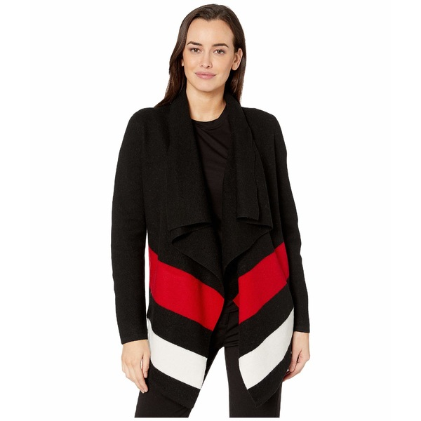 ラルフローレン レディース ニット&セーター アウター Open-Front Wool Sweater Polo Black/Lipstick Red/Mascarpone Cream
