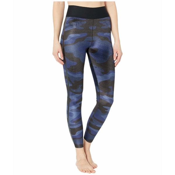 ウルトラコール レディース カジュアルパンツ ボトムス Ultra High Camo Velvet Leggings Blue/Nero Patent
