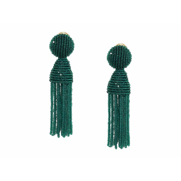 オスカー デ ラ レンタ レディース ピアス&イヤリング アクセサリー Short Beaded Tassel Earrings Spruce