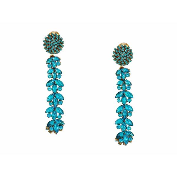 オスカー デ ラ レンタ レディース ピアス&イヤリング アクセサリー Crystal Drop C Earrings Turquoise