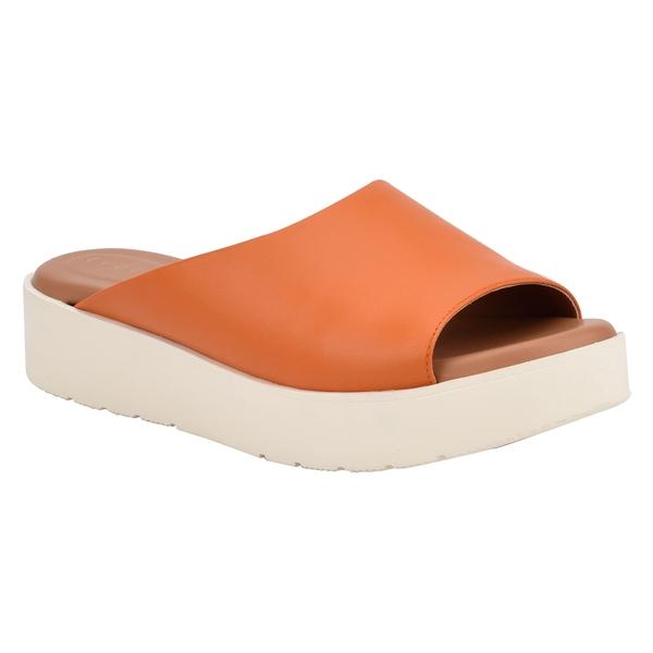 イヴァルヴ レディース サンダル シューズ evolve Flora Slide Sandal (Women) Orange Leather
