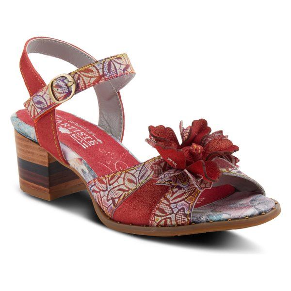 ラリティステ レディース サンダル シューズ L'Artiste by Spring Step Petaluma Sandal (Women) Red Leather