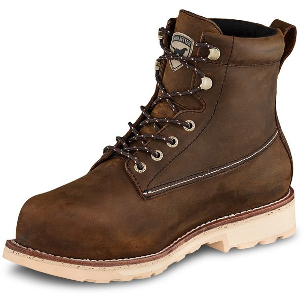 Irish Setter メンズ シューズ ブーツ レインブーツ おすすめ特集 Brown 全商品無料サイズ交換 アイリッシュ 低価格化 セッター Leather 6 Boots ST Wingshooter Safety Toe Men's in