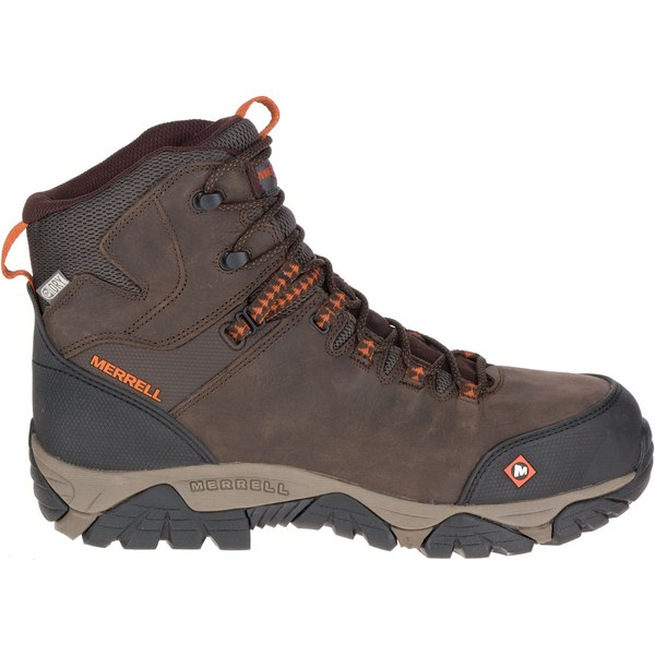 Merrell メンズ シューズ WEB限定 ブーツ レインブーツ Espresso 全商品無料サイズ交換 メレル Men's ギフト Work Composite EH Phaserbound Up Boots Lace Mid Toe