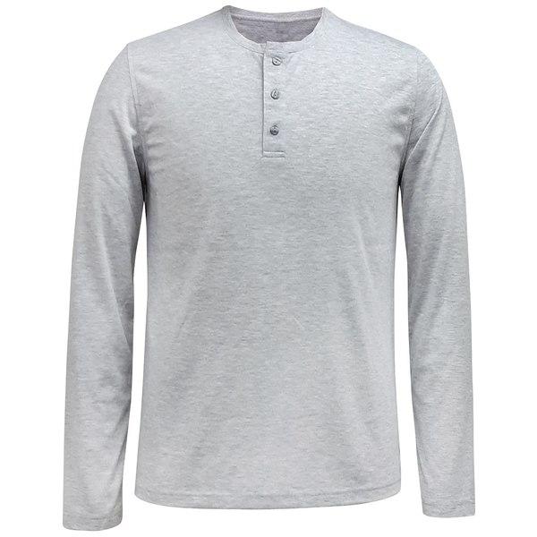 特別価格 アルファニ メンズ Tシャツ トップス Men&39;s AlfaTech Henley Shirt Smoke Grey Hthr, 三股町 cf6236d9