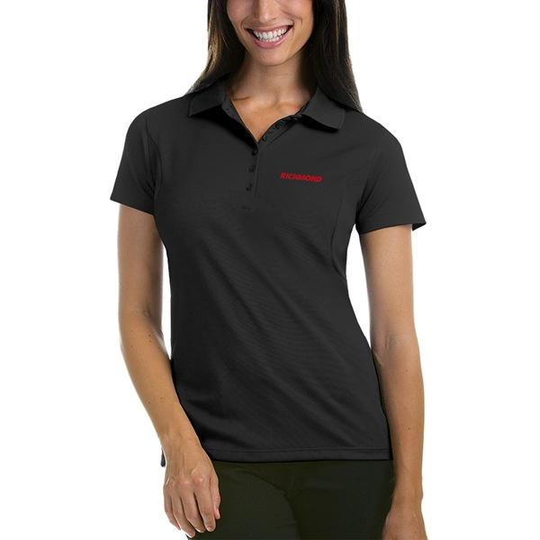 アンティグア レディース ポロシャツ トップス Antigua Women's Richmond Raceway Pique Desert Dry Xtra Lite Polo Charcoal