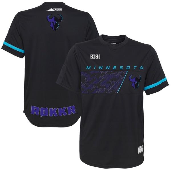 アウタースタッフ メンズ ユニフォーム トップス Exceed Minnesota Rokkr Away Jersey Black