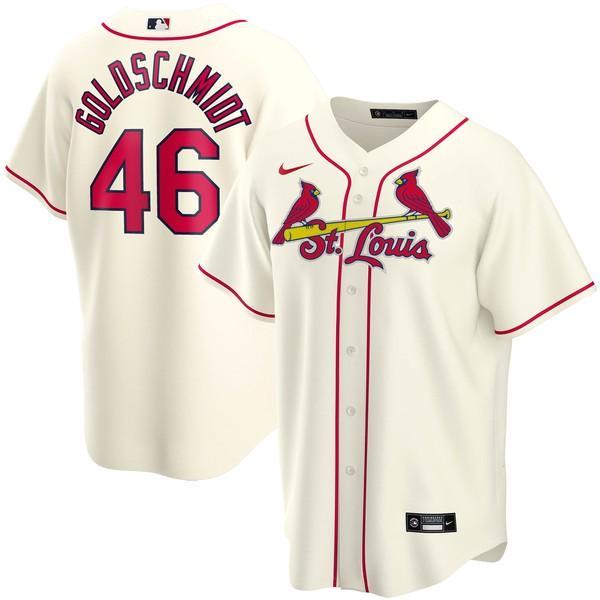 ナイキ メンズ ユニフォーム トップス Paul Goldschmidt St. Louis Cardinals Nike Alternate 2020 Replica Player Jersey Cream