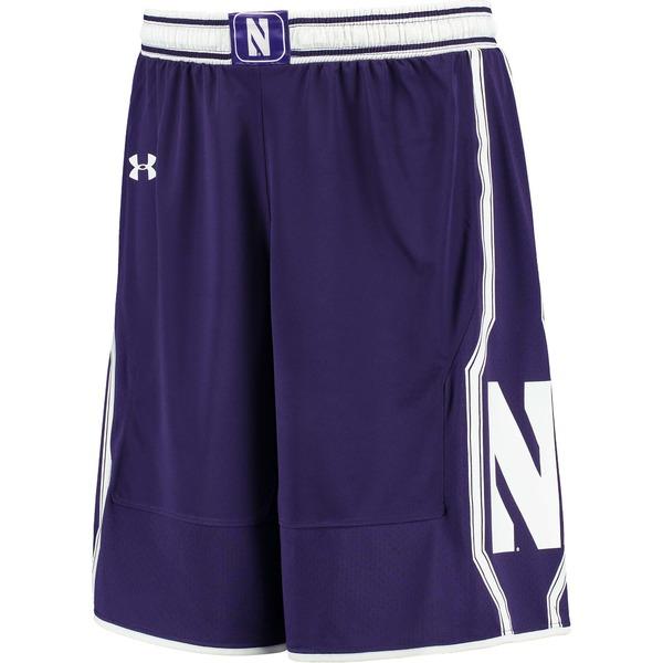 アンダーアーマー メンズ ハーフ&ショーツ ボトムス Northwestern Wildcats Under Armour Replica Basketball Shorts Purple