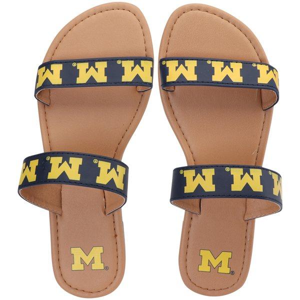 フォコ レディース サンダル シューズ Michigan Wolverines Women's Double Strap Sandals