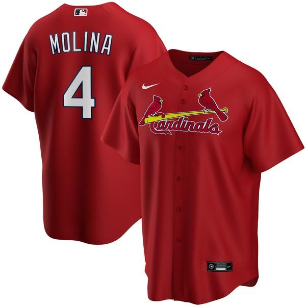 ナイキ メンズ ユニフォーム トップス Yadier Molina St. Louis Cardinals Nike Alternate 2020 Replica Player Jersey Red