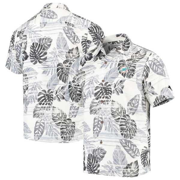 トッミーバハマ メンズ シャツ トップス Miami Dolphins Tommy Bahama Super Fan Camp Button-Up Shirt Black