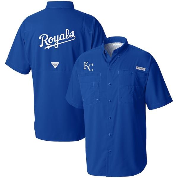 コロンビア メンズ シャツ トップス Kansas City Royals Columbia Tamiami Omni-Shade Button-Down Shirt Royal