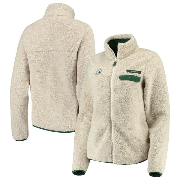 コロンビア レディース ジャケット&ブルゾン アウター Oregon Ducks Columbia Women's Mountain Side Sherpa Fleece Full-Zip Jacket Cream