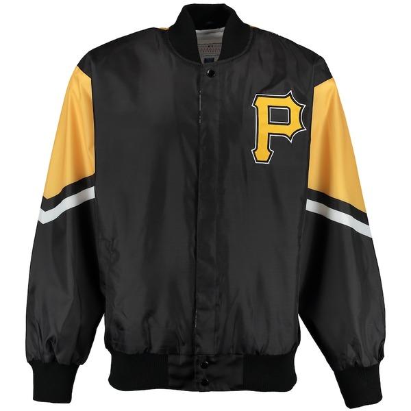 カールバンクス メンズ ジャケット&ブルゾン アウター Pittsburgh Pirates G-III Sports by Carl Banks Extreme Real Hype Jacket Black