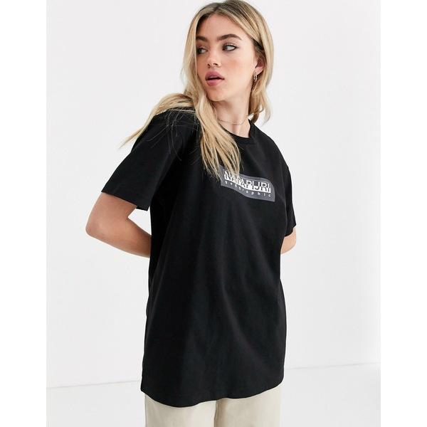 ナパピリ レディース Tシャツ トップス Napapijri Sox t-shirt in black Black