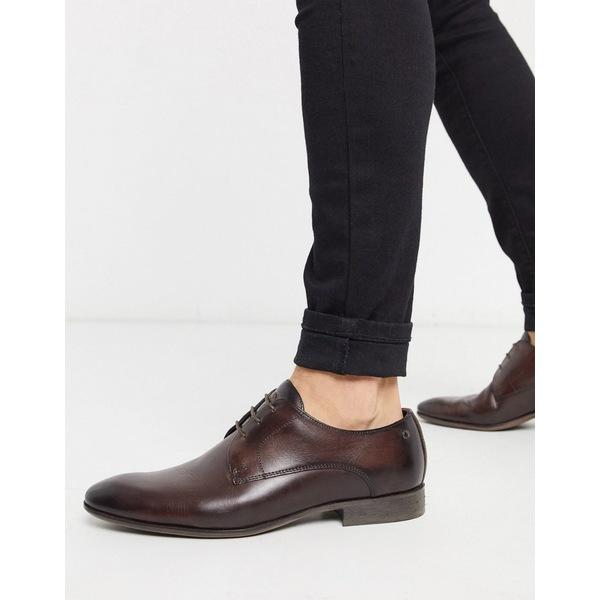 ベースロンドン メンズ スニーカー シューズ Base london dansey formal shoes in brown leather Brown
