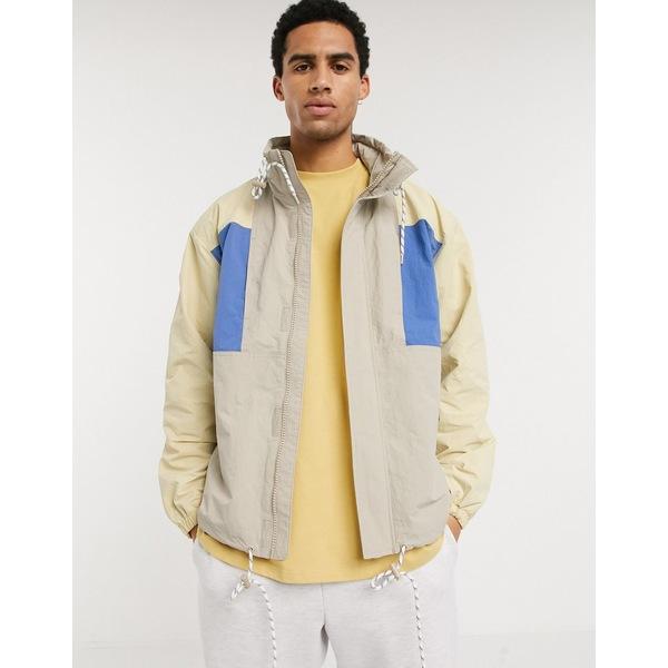 ウィークデイ メンズ ジャケット&ブルゾン アウター Weekday Justin jacket in color block beige Beige