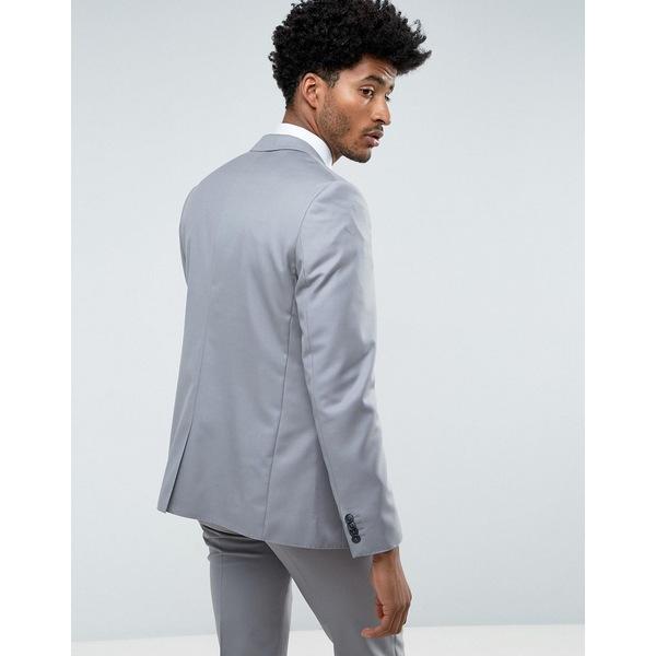 エイソス メンズ ジャケット&ブルゾン アウター ASOS Slim Suit Jacket in 100% Wool in Mid Gray Gray
