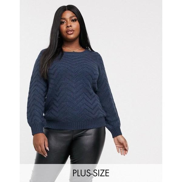ジュナローズ レディース ニット&セーター アウター Junarose textured sweater Navy
