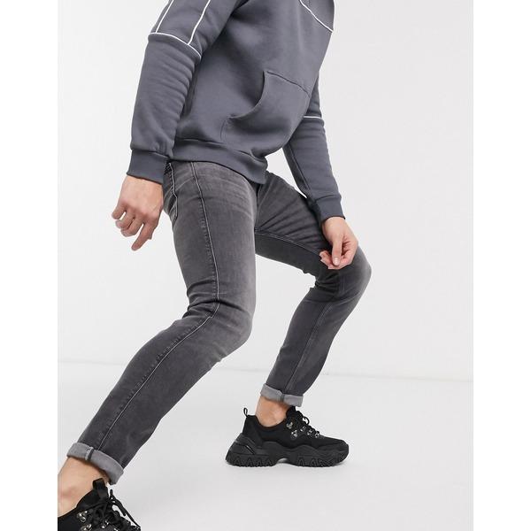 フューゴ メンズ デニムパンツ ボトムス HUGO 734 extra slim fit jeans in gray wash Gray