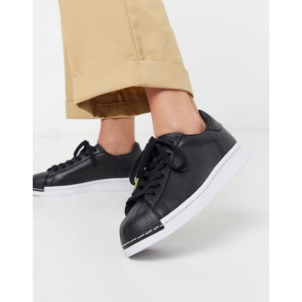 アディダスオリジナルス レディース スニーカー シューズ adidas Originals Red Carpet Superstar sneakers in black and white White