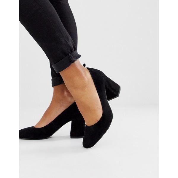 アンドアザーストーリーズ レディース スニーカー シューズ & Other Stories pump round toe shoes in black suede Black