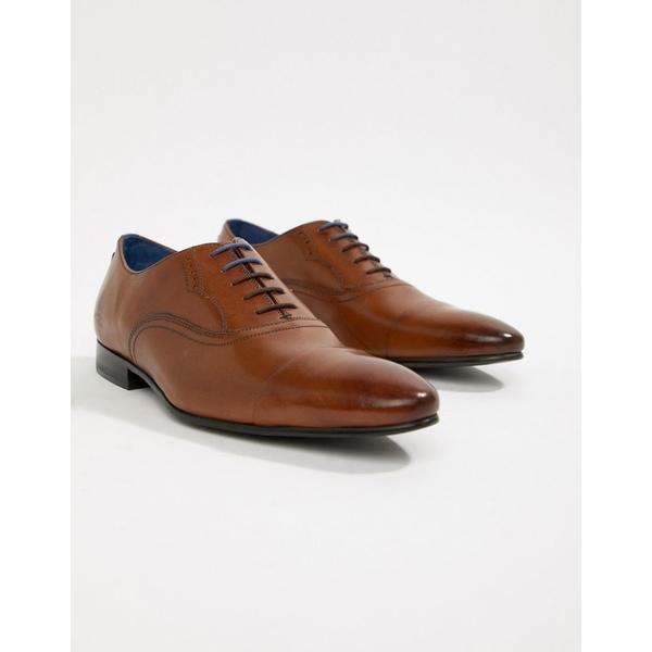 テッドベーカー メンズ スニーカー シューズ Ted Baker Murain oxford shoes in tan leather Tan