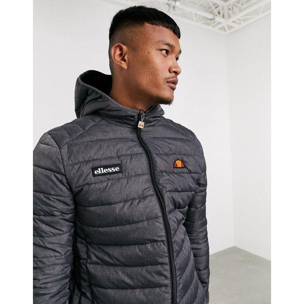 エレッセ メンズ ジャケット&ブルゾン アウター ellesse Lombardy padded jacket in gray Charcoal marl