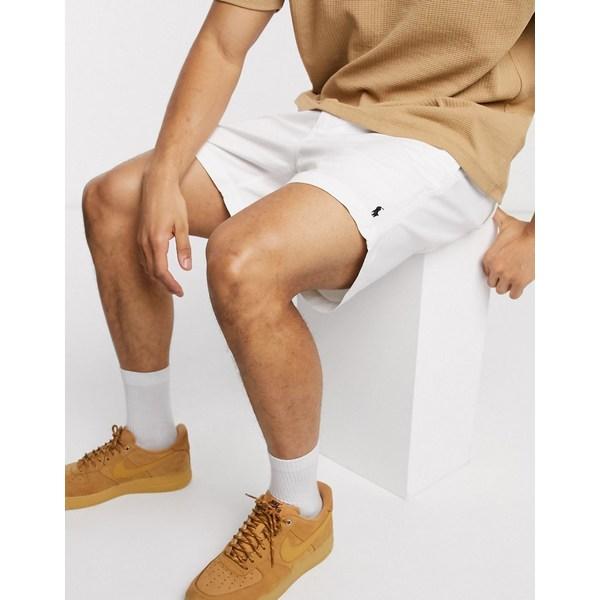 ラルフローレン メンズ カジュアルパンツ ボトムス Polo Ralph Lauren player logo cotton stretch twill prepster shorts in white White