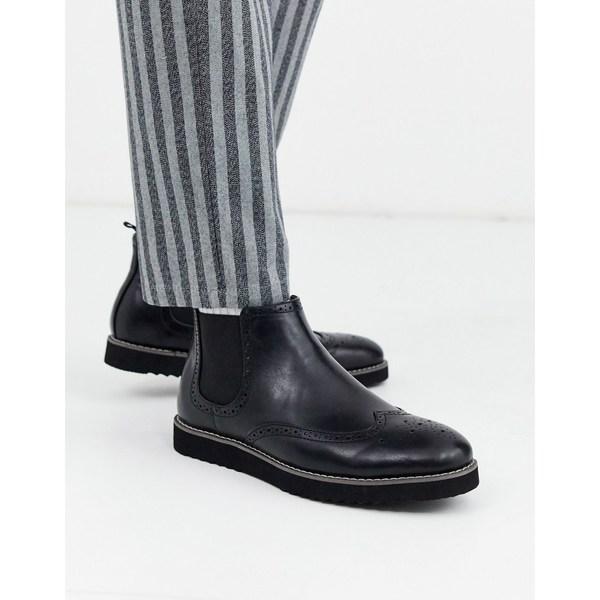 トゥラッフル メンズ ブーツ&レインブーツ シューズ Truffle Collection chelsea boot in black Black