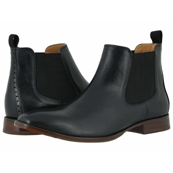 ジョンストンアンドマーフィー メンズ ブーツ&レインブーツ シューズ McClain Chelsea Boot Black Full Grain