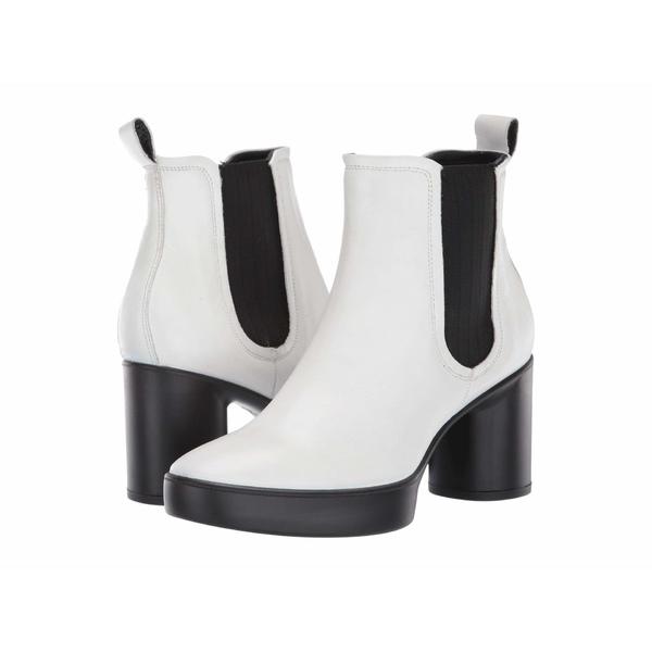 エコー レディース ブーツ&レインブーツ シューズ Shape Sculpted Motion 55 Chelsea Boot Bright White